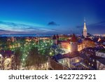 view to the european city... | Shutterstock . vector #1422722921