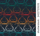 seamless shark print. abstract... | Shutterstock .eps vector #1422723131