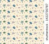 cute eid mubarak seamless... | Shutterstock .eps vector #1422730787