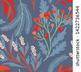 seamless vector floral pattern. ...   Shutterstock .eps vector #1422736544
