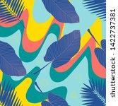jungle foliage illustration....   Shutterstock .eps vector #1422737381