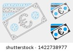mesh euro banknote and credit... | Shutterstock .eps vector #1422738977