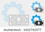 mesh ethereum banknote options... | Shutterstock .eps vector #1422742577