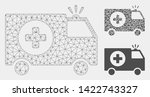 mesh emergency model with... | Shutterstock .eps vector #1422743327