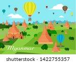 hot air balloon tourist... | Shutterstock .eps vector #1422755357