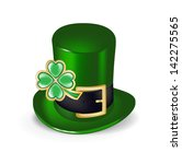 green hat with lucky clover...   Shutterstock .eps vector #142275565