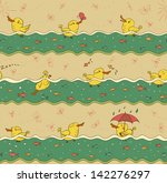 swimming ducks | Shutterstock . vector #142276297