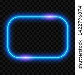 neon frame on transparent... | Shutterstock .eps vector #1422796874
