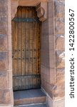 Old Wooden Door Leading To A...