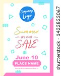 summer sale a4 flyer banner... | Shutterstock .eps vector #1422823067
