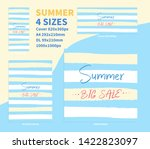 summer big sale banner concept... | Shutterstock .eps vector #1422823097