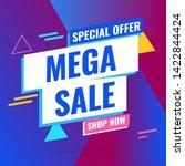 promotion sale banner template... | Shutterstock .eps vector #1422844424