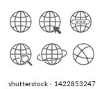 globe icon set. vector... | Shutterstock .eps vector #1422853247