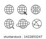 globe icon set. website ... | Shutterstock .eps vector #1422853247