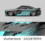 car wrap decal design concept....   Shutterstock .eps vector #1422878594