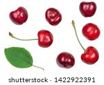 Cherry fruit isolated on white...