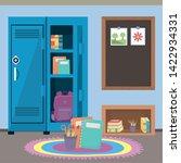 school locker and supplies...   Shutterstock .eps vector #1422934331
