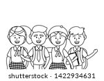 boys and girls of school design ... | Shutterstock .eps vector #1422934631