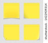 vector illustration of 4 yellow ... | Shutterstock .eps vector #1422939314