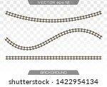 straight tracks art design.... | Shutterstock .eps vector #1422954134