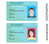 student id card. university ... | Shutterstock .eps vector #1422956954