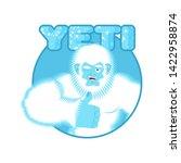 Stock photo yeti thumbs up bigfoot winks emoji abominable snowman cheerful 1422958874