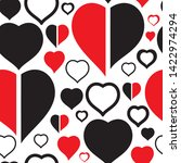 seamless doodle hearts loves... | Shutterstock .eps vector #1422974294