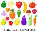 funny emotional smiling fruits... | Shutterstock .eps vector #1422983864