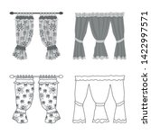 vector design of curtains and... | Shutterstock .eps vector #1422997571