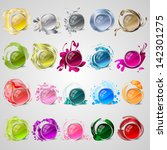 abstract colorful icons set  ... | Shutterstock .eps vector #142301275
