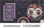 zodiac sign aries. the symbol... | Shutterstock .eps vector #1423026884
