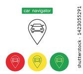 car navigation device outline...   Shutterstock .eps vector #1423055291