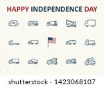 truck set of transport vector... | Shutterstock .eps vector #1423068107
