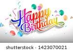 happy birthday hand drawn... | Shutterstock .eps vector #1423070021
