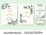 wedding floral invitation card... | Shutterstock .eps vector #1423070294