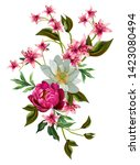 Floral Illustration   Bouquet...