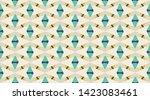 vintage vector pattern. ... | Shutterstock .eps vector #1423083461