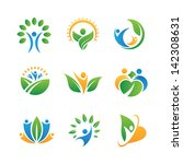 people in nature icons | Shutterstock .eps vector #142308631