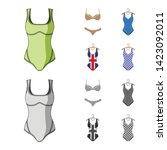 isolated object of bikini and...   Shutterstock .eps vector #1423092011