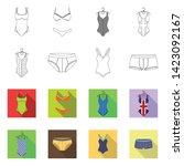 vector design of bikini and...   Shutterstock .eps vector #1423092167
