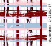 vector hand drawn paint stripe... | Shutterstock .eps vector #1423101497