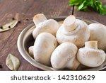Bunch Of Fresh White Mushrooms...