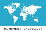 color world map vector modern | Shutterstock .eps vector #1423111184