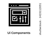 ui component icon solid vector