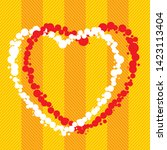 vector illustration. two hearts ... | Shutterstock .eps vector #1423113404