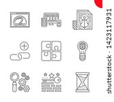 seo line icons set. seo related ... | Shutterstock .eps vector #1423117931