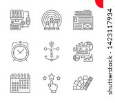 seo related vector line icons.... | Shutterstock .eps vector #1423117934