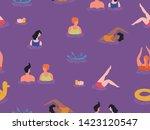 summer theme seamless pattern... | Shutterstock .eps vector #1423120547