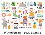 big summer set with cute... | Shutterstock .eps vector #1423122581