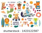 big summer set with cute... | Shutterstock .eps vector #1423122587